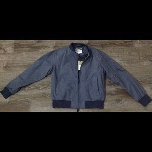 NWT Goodfellow Navy/Blue Bomber Varsity Jacket